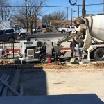Methodist Activity Center sidewalk pour