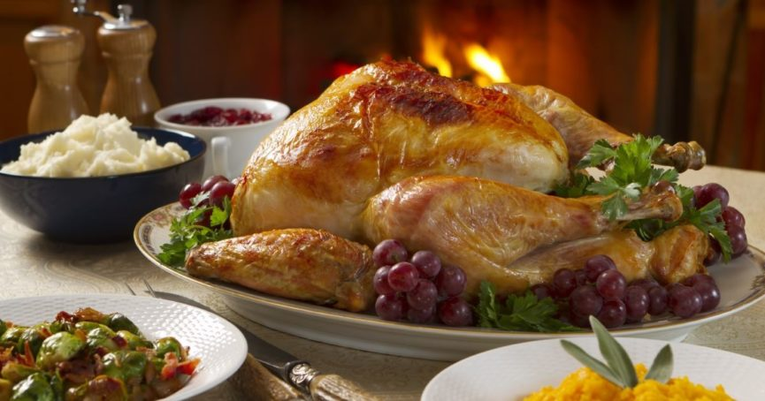 Thanksgiving meal turkey